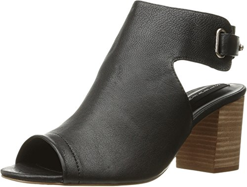 (STEVEN by Steve Madden Womens Venuz Leather Open Toe Casual, Black, Size 5.0)