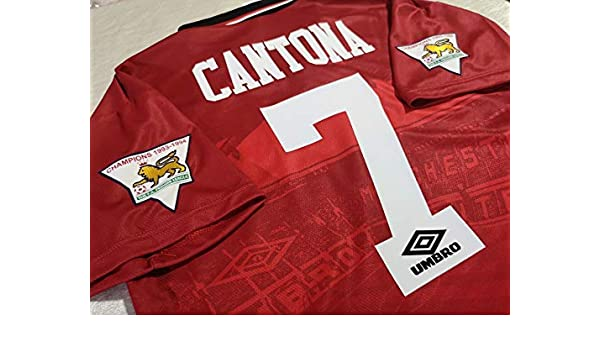 BROOK Cantona # 7 Manchester United Home Retro Soccer Jersey 1994 ...