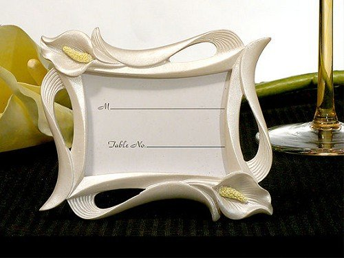 Calla Lily Wedding Photo Place Card Frame (2 x 3 inches)