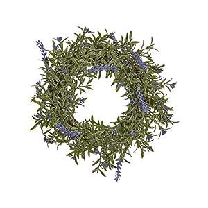 "RAZ Imports Artificial Lavender & Leaves Wreath, 9"" 20"