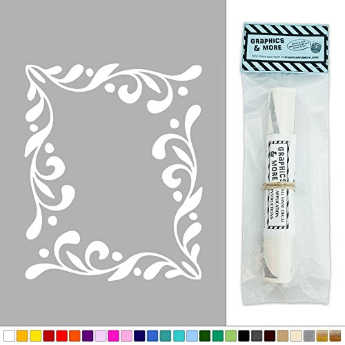 Corner Ornamental Doodle Set of Two Vinyl Sticker Decal Wall Art Décor - White