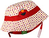 Sesame Street Headwear Baby-Boys Newborn Elmo Infant Bucket Hat with Contrasting Trim and Chin Strap, Red, One Size