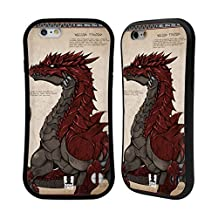 Head Case Designs Red-Scaled Dragons Hybrid Case for Apple iPhone 5 / 5s / SE