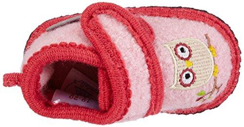 SterntalerHausschuh - pantuflas Bebé-Niños, color Rosa, talla 25/26