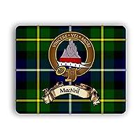 Scottish Clan MacNeil Tartan Crest Computer Mouse Pad