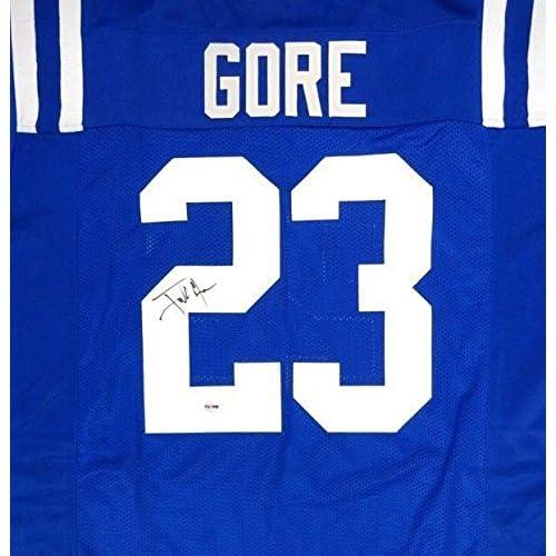 wholesale dealer d4b53 cc6c9 85%OFF Autographed Frank Gore Jersey - Blue - PSA/DNA ...