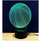 Best Buy Basketball 3d Night Light Touch Table Lamp Fipart 7 Color 3d Phantom Atmosphere Light With Acrylic Base And Usb Decorative Intelligent Led Lights
