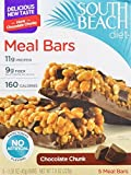 South Beach Diet Meal Bars, Chocolate Chunk, 1.58 Ounce, 5 Count