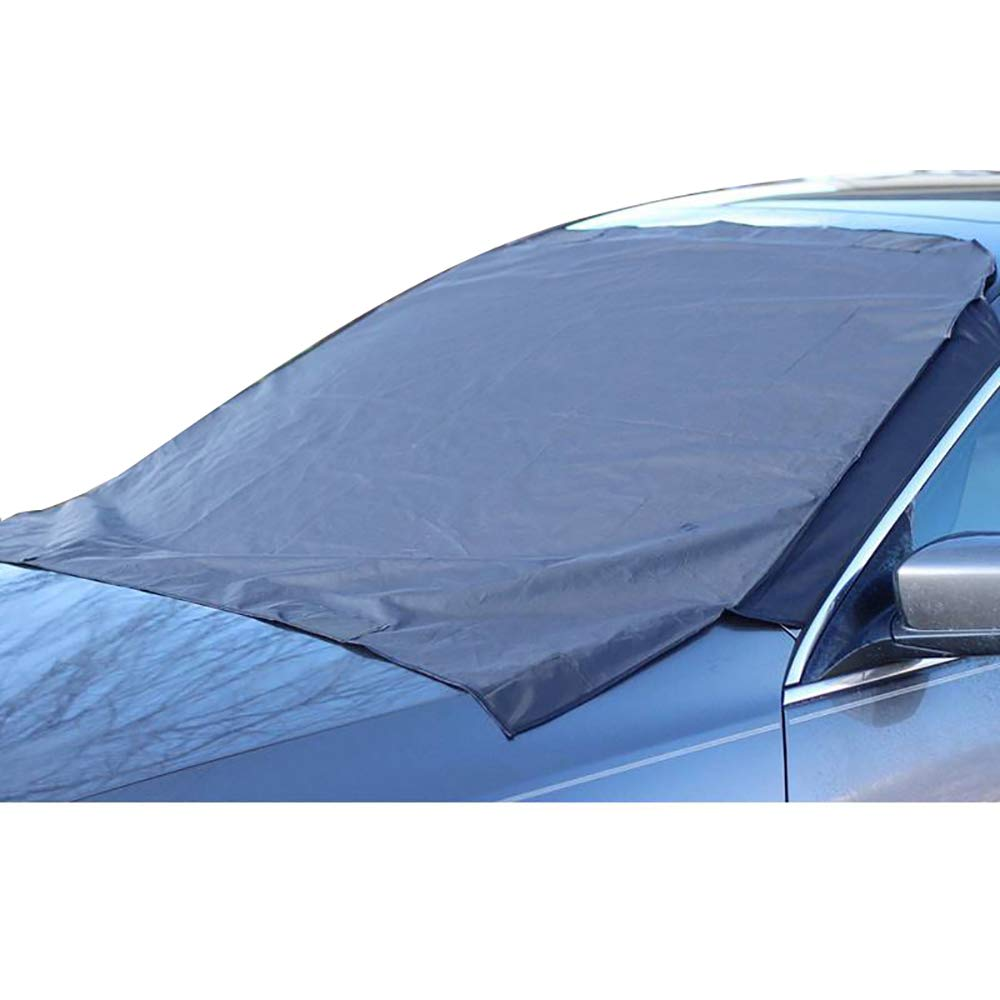 Car Front Windshield Snow Cover Frost Sun Shade Protect Tarp Flap Cover Magnet JXHD