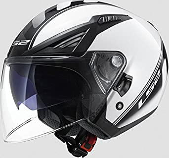 305861102/M CASCO LS2 OF586 BISHOP URBAN BLACK WHITE-UNLIMITED ATOM TALLA M