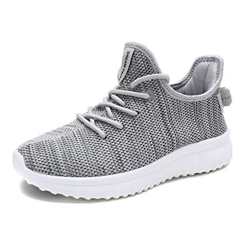(DREAM PAIRS Women's Light Grey Tennis Shoes Athletic Running Sneaker 170726_2_W 9 M US)