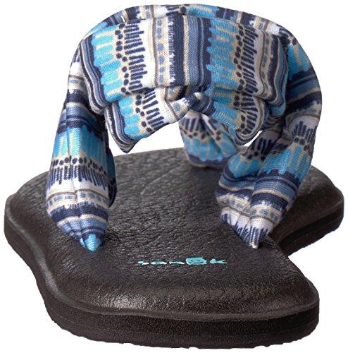 Topaz Blue 2 Chanclas Sling Mujer Prints Multicolor Btis para Yoga Sanuk Island w8pnqEzCC
