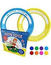 Activ Life Fun Kid's Flying Rings [2 Pack] Fly Straight & Don't Hurt - 80% Lighter Than Standard Flying Discs - Replace Screen Time with Healthy Family Fun - Get Outside & Play! Made in USA