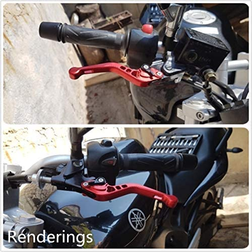 Rzmmotor Motorcycle 3d Texture Aluminum Short Brake Clutch Levers Compatible With Yamaha Yzf R1 R1m R1s 2015 2020 Yzf R6 2017 2020 Auto