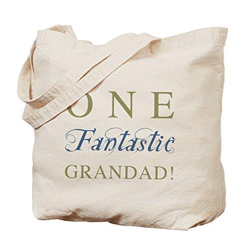 Cafepress–One Fantastic Grandad Tote bag–Borsa di tela naturale, tessuto in iuta