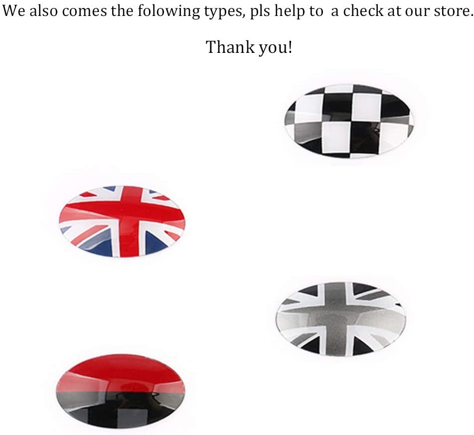 F57 F56 Convertible Hardtop 4-Door F54 GTINTHEBOX Black White Checkered ABS Shift Knob Automatic Trans Trim Badge Covers for Mini Cooper//Cooper S for Hardtop F55 /& Clubman