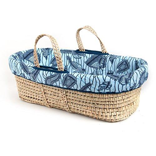 Tadpoles Moses Basket and Bedding Set, Blue ()