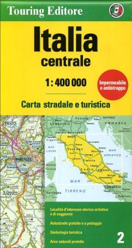 Central Italy Atlas 1:400 000 (Touring Club Italiano Road Maps) (English and Italian Edition)