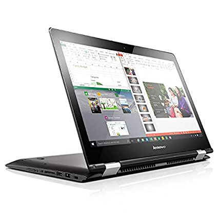 "Lenovo Yoga 500-14IBD - Portátil táctil de 14"" HD (Intel Core I3-5005U, 4 GB de RAM, disco duro SSD 128 GB, Intel HD graphics 5500, Windows 10), color negro - Teclado QWERTY Español"