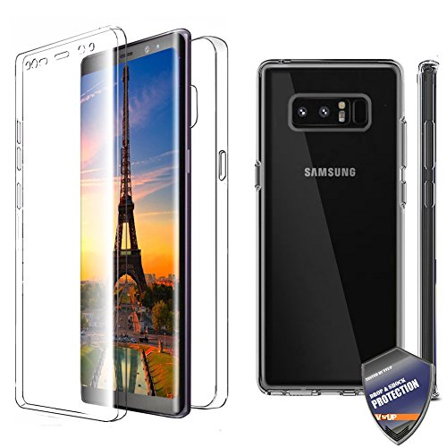 Price comparison product image [VVUP] Clear Slim Full-body Rugged Case Protection with Built-in Screen Protector for Samsung Galaxy Note 8