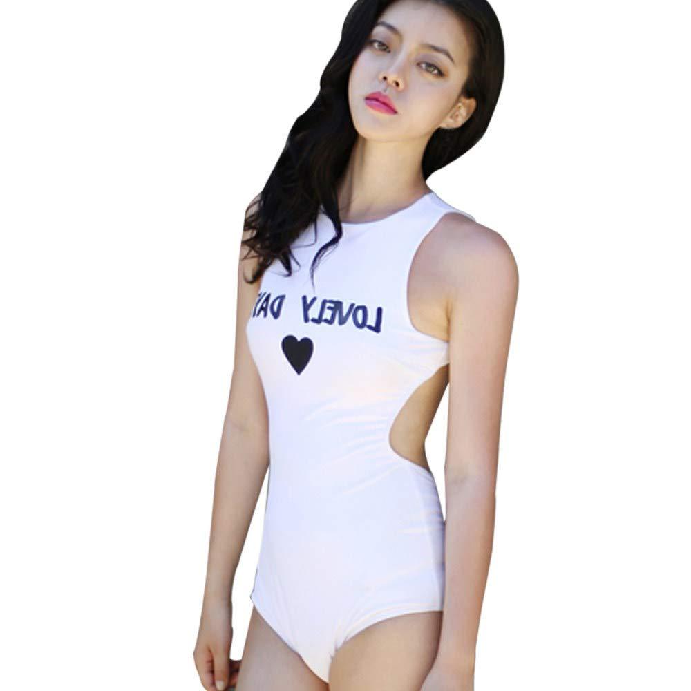 HITRAS Women's Swimwear One Piece Swimsuit Push Up Bikini Bathing Suit Tankini Set Bathing Suits White