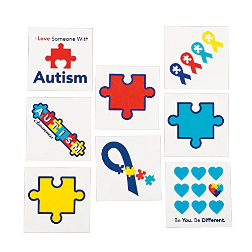 Fun Express Autism Awareness Tattoos (72 Pieces) -