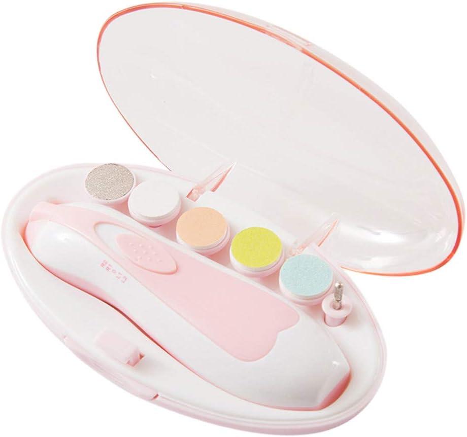 gesund und Sicher Manik/üre /& Pedik/üre Nagelpflege Set 5 in 1 Nagelfeile mit LED- Licht f/ür Babys Erwachsene LeeMon Elektrischer Nageltrimmer f/ür Babys Blau Kleinkind