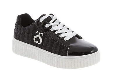 reputable site 7c758 c3c27 SOLO SOPRANI Scarpe Donna Sneakers in Tela nera F-10-BLACK ...