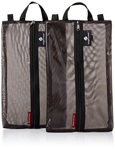 51FtNRmsFKL - Eagle Creek Pack-It Original Shoe Sac Set, Black, Set of 2