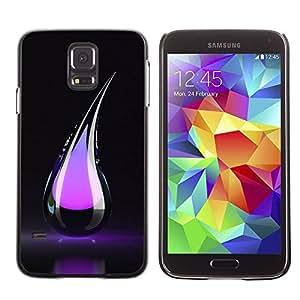 Paccase / SLIM PC / Aliminium Casa Carcasa Funda Case Cover para - Purple Tear - Samsung Galaxy S5 SM-G900