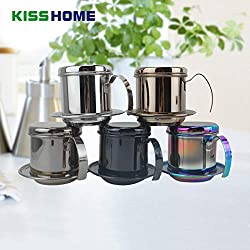 Best Quality - Coffee Filters - Multi-color Portable Stainless Steel Vietnam Coffee Dripper Filter Coffee Maker Drip Coffee Filter Pot Filters Tool - by LINAE - 1 PCs