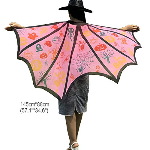 Halloween Party Soft Fabric Butterfly Wings Shawl Fairy Ladies Nymph Pixie Costume Accessory (6# Pink) -