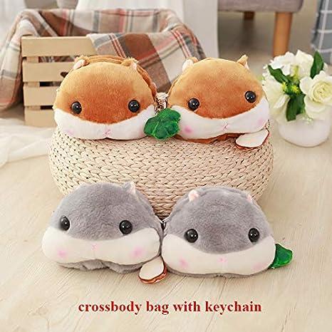 Amazon.com: 1 bolsa de hombro para niñas con cara de hámster ...