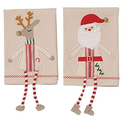 (Christmas Reindeer and Santa Dangle Legs Hand)