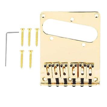 Dilwe Puente de Guitarra, Metal Puente Saddle para TL Telecaster Guitarra con Bobina Simple Pickup Hole Accesorio de Instrumento Musical: Amazon.es: ...