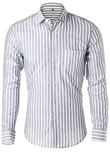 Button Down Striped Dress Shirt - 5