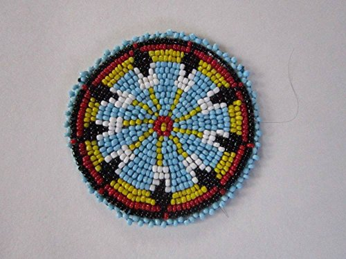 Biker bettys 3 glass beaded rosettes tribal native crafts for Native crafts for sale