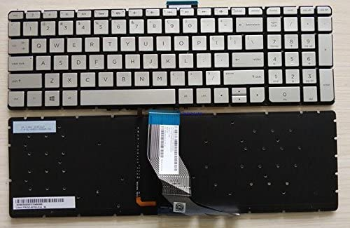 EJTONG New for HP Envy 15-aq 15-aq000 m6-aq000 m6-aq005dx m6-aq103dx m6-aq105dx 15-aq015nr 15-aq155nr 15-aq002la 15-aq090na 15-aq100na 15-aq102na 15-aq100no 15-aq160sa us Silver Keyboard with Backlit
