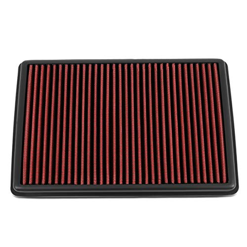 DNA Motoring AFPN-207-RD High Flow Washable Engine Drop-In Panel Air Filter