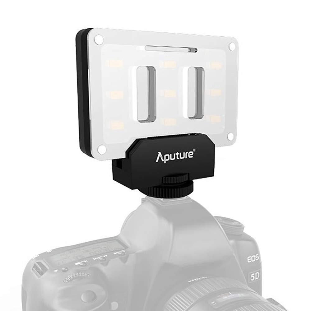 Aputure Amaran AL-M9 Mini Pocket LED Video Light On-Camera + 12 pcs EXTRA Color Gel Filter, YiliWit Portable Photography Light