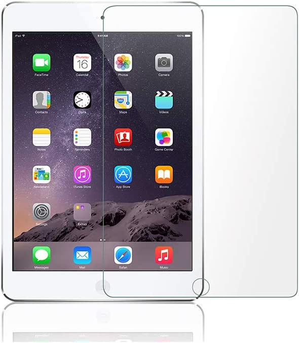 Tempered Glass Screen protector for Apple iPad / iPad Pro 9.7 / iPad 5 / iPad 6 / iPad Air 2 / iPad Air Full Protection [No Bubble] [Touch Accurate] [Case Friendly ] [full coverage] HD protective film for iPad (9.7