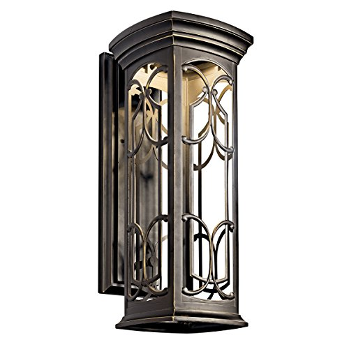 Castle Bronze Outdoor Hanging Lantern (Kichler 49228OZLED LED Outdoor Wall Mount)