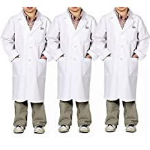 Kids Doctor Role Play Costume 3 PK Boys Girls Lab Coat Children Doctor Uniform