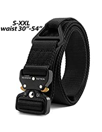Fairwin Tactical Rigger's Belt, Military Style Webbing Nylon Web Belt with Heavy-Duty Quick-Release Metal Buckle