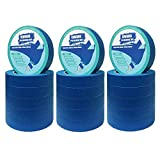 "18 Rolls 0.94"" Pro-Grade Blue Painters Tape, Medium"