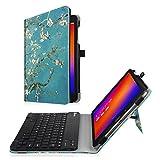 Fintie Asus ZenPad 3S 10 Z500M / ZenPad Z10 ZT500KL Keyboard Case - Slim Fit Folio Stand Cover w/ Detachable Wireless Bluetooth Keyboard for Verizon Asus ZenPad Z10 / 3S 10 9.7-Inch Tablet, Blossom