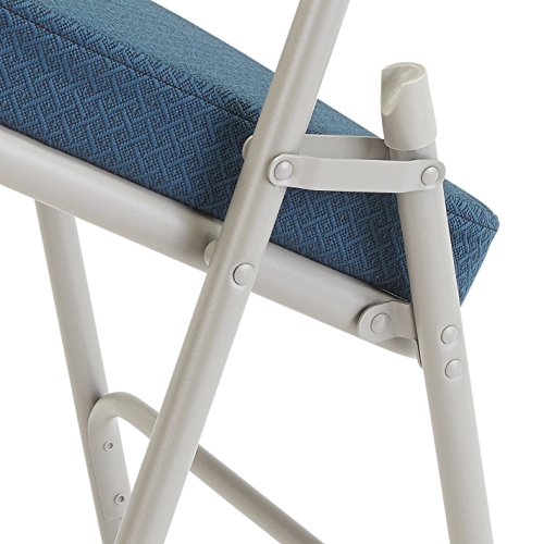 Detail of NPS 1200 Series Vinyl Upholstered Double Hinge Folding Chair