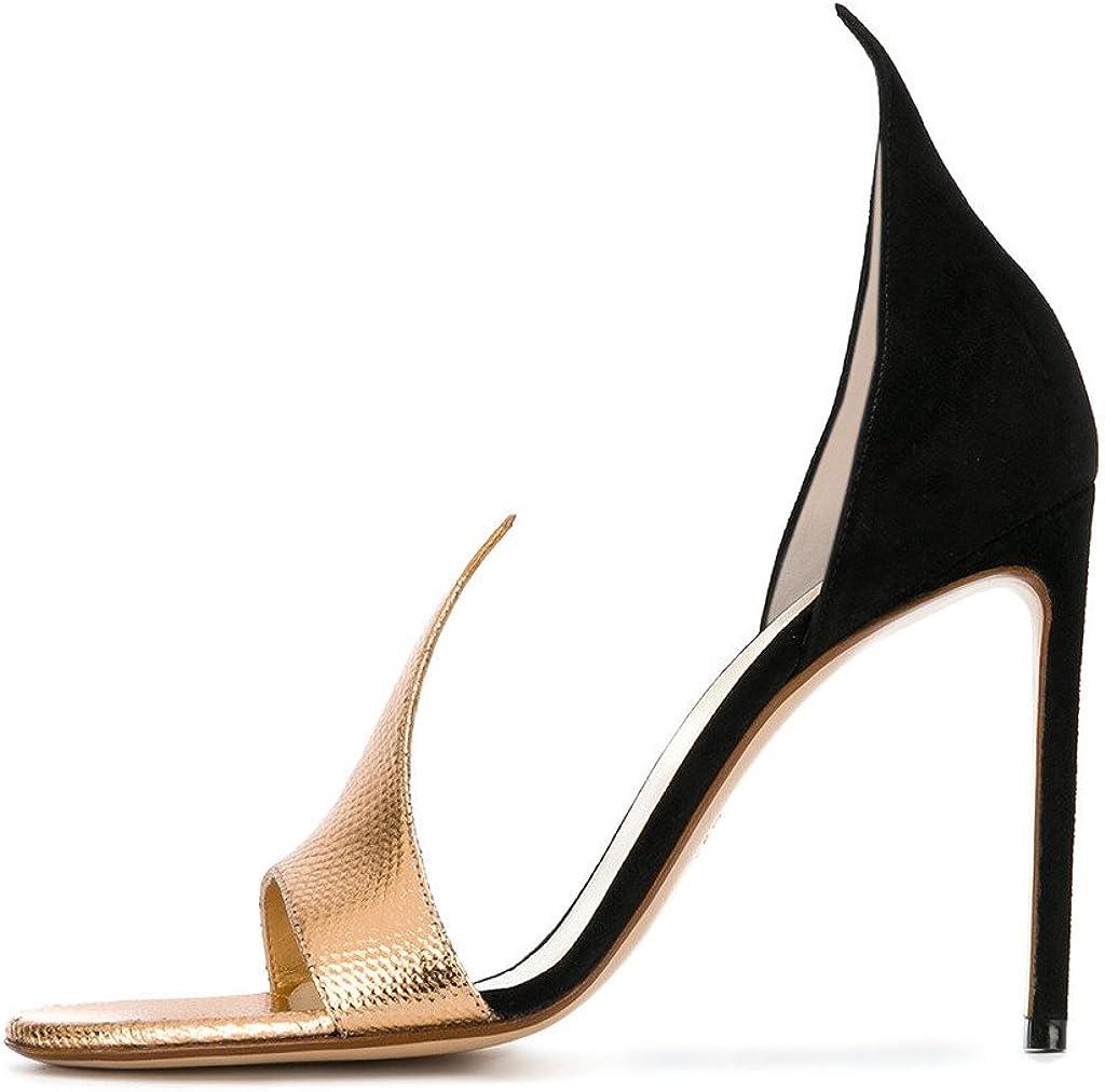 FSJ Women Versatile DOrsay High Heels Slide Sandals Open Toe Stilettos Evening Shoes Size 4-15 US