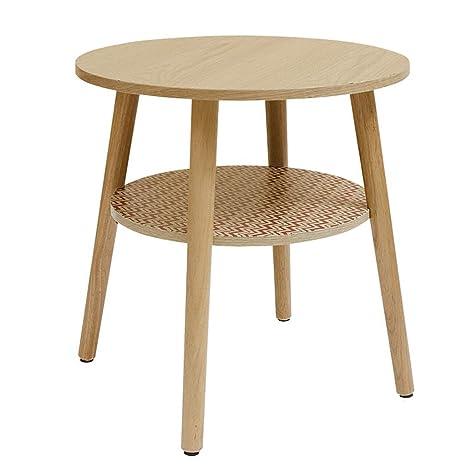 Amazon.com: Mesa de centro pequeña mesa redonda de dos ...