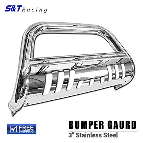 S&T Racing SS Chrome Bull Bar for 2008-2012 Ford Escape/Mazda Tribute/Mercury Mariner Brush Push Front Bumper Grill Grille Guard ()